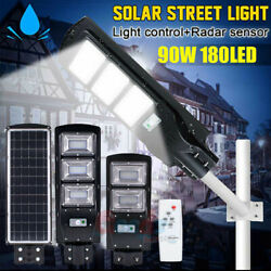 990000LM Commercial LED Solar Street Light Radar Sensor Dusk to DawnRemotePole
