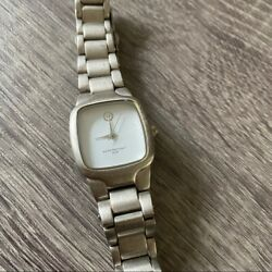 Target Silver Link White Square Dial Watch $18.00
