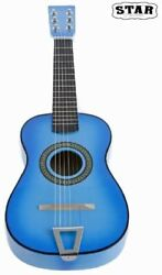 Star Kids Acoustic Toy Guitar 23 Inches Color Light Blue MG50 LBL $50.00