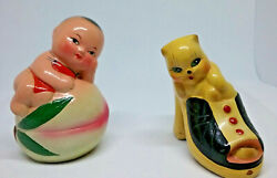 Pencil Sharpener lot of 2 novelty shoe with kitty baby on ball vintage $15.00