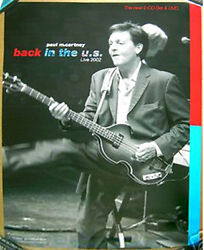 PAUL McCARTNEY Back In The USA 2002 promo POSTER with Hofner Violin Bass LIVE $9.99