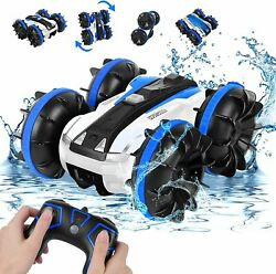 Rabing Amphibious Remote Control Car 2.4GHz High Speed 4WD 360° Rotating NEW $29.99