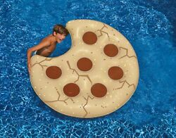 Swim Central 60IN Inflatable Cookie Shaped Novelty Swimming Pool Floating Raft $29.69