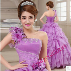 New Lady Wedding Formal Gown Quinceanera Dress Pageant Ball Dresses Bridal party