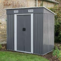 3.5X6FT Outdoor Garden Storage Shed Backyard Tool House Dog House W Floor Base $249.99