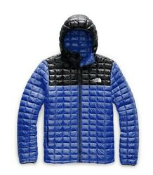 NEW THE NORTH FACE THERMOBALL ECO HOODIE TNF Blue Black Slim Fit MSRP $220 $139.99