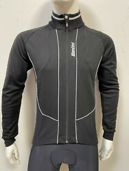 Octa Cycling Windproof Jacket in Black White Made in Italy by Santini Size L $109.97