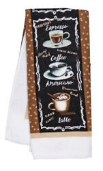 Home Collection Coffee Themed Kitchen Towels 15x25 in. Brown Heat Resistant $6.48