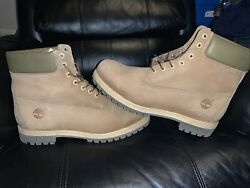 New Mens MEN#x27;S 6 INCH PREMIUM WATERPROOF BOOTS Brown Leather Collar Timberland $107.99