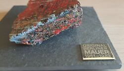 Original Genuine Color Piece of Berlin Wall on Special Slate Display with COA $395.00