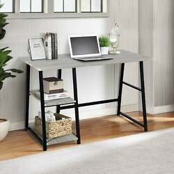 Simple Computer Desk for Home Office Room Work From Sturdy Writing Small Bedroom $170.98
