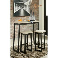 Table sets with chairs Two tone Counter Bar Pubs Kitchen New $203.99