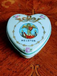 Antique Victoria Ware Heart Shaped Trinket Box Decorated With Roses Helston $5.00