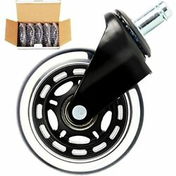 Najiaxiaowu Office Chair Wheels Computer Duty Desk Replacement Casters For Thick $34.99