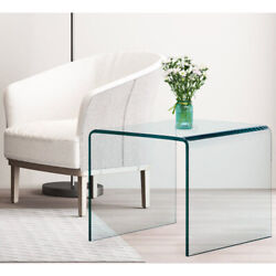 Tempered Glass Coffee Table Accent Cocktail Side Table Living Room Furniture $132.89