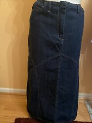 EUC Details Maxi Women's Dark Blue Denim Skirt Size 18W $19.99