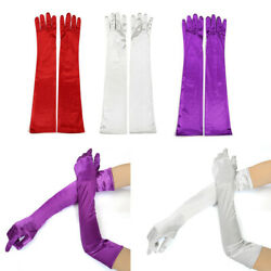Long Satin Opera Gloves Bridal Wedding Prom Party Evening Costume Opera Gloves $10.59