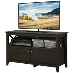 TV Stand Cabinet Wooden Modern Storage with Display Shelf Espresso New $142.99