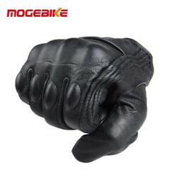 Cycling Gloves Leather Touchscreen Bike Glover Thermal Warm Full Finger Glove $23.00