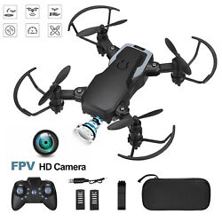 4DRC Mini Drone With 720P HD Wifi FPV Camera Foldable RC Quadcopter for kids $29.99