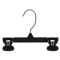 Pants Hangers 10 Pack Black Pant Hangers Skirt Hangers With Clips Trouser Bulk P $6.65