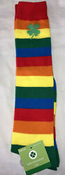 NWT Novelty Knee High Socks Rainbow St Patrick's Day Shoe Size 4 10 $10.00