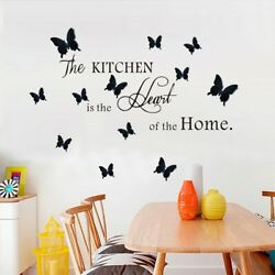 Kitchen Wall Stickers Three dimensional Butterfly Background Decorative Stickers C $13.70