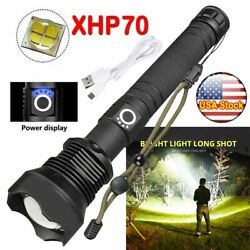 USA 990000LM XHP50 70 90 LED Zoom USB Rechargeable Flashlight Super Bright Torch $24.39