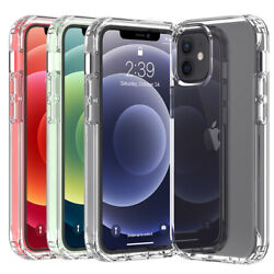 For Apple iPhone 12 Pro Max 11 12 Mini Shockproof Clear Crystal Case Phone Cover $3.88
