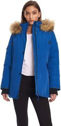 Alpine North Womens Vegan Down Parka Jacket with Faux Fur $289.27