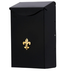 City Classic Small Steel Vertical Wall Mount Mailbox Black $13.99