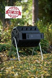 FCMP Outdoor IM4000 37 Gal. Dual Chamber Tumbling Composter Black $96.99