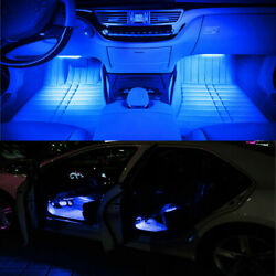 New Car Decorative Lights Charge LED Interior Floor Decoration Lamp DC 12V 2in1