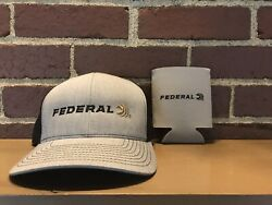 Federal Ammunition Gray Black Summer Cap Hat And Cozie Hunting Shooting $19.96