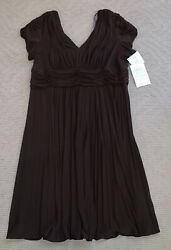 NWT New Women's Suzi Chin Maggy Boutique Brown Cocktail Plus Dress Gown size 20W $30.00