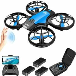 V8 Mini Drone 4k Profession Hd Wide Angle Camera Drones Camera Helicopter Toys $44.99