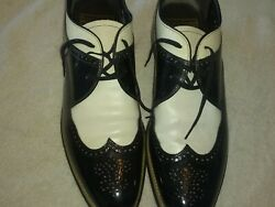 Stacy Adams Dayton Oxford Men#x27;s Size 11 D Black White Dress Shoes