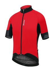 Beta 2.0 Cycling Windproof Jersey in Red Made in Italy by Santini Size S $54.97