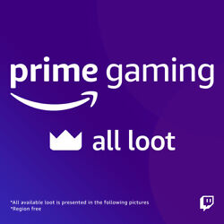 Twitch Prime Gaming for ALL LOOT GTA V LOL VALORANT R6 WOT APEX LEGENDS $1.49