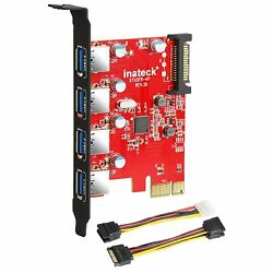 Inateck PCI e to USB 3.0 4 Ports PCI Express Card and 15 Pin Power Connecto… $39.99