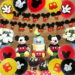 Mickey Mouse birthday party decorations Kids Balloons Happy Birthday $16.95