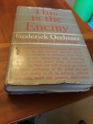This is the Enemy by Frederick Oechsner HC 1942 WWI $5.00
