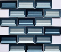 Stainless Steel and Glass Mosaic Tile Blends Kitchen Backsplash Wall Bathroom $19.88