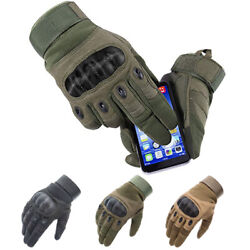 Tactical Hard Knuckle Gloves Men#x27;s Military Army Combat Airsoft Security Police $12.99