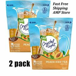 Crystal Light Peach Iced Tea Powdered Drink Mix 4.55 oz. Pack of 2 $15.90