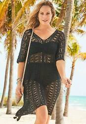 Swimsuits For All Women#x27;s Plus Size Ada Crochet Cover Up Tunic $35.02