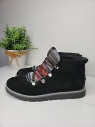 Bobs From Skechers Black Alpine S#x27;mores Lace Up Ankle Boots Size 8 $35.00
