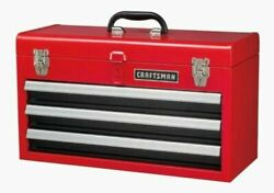 CRAFTSMAN Portable Tool Box 20.5 in Ball bearing 3 Drawer Red Steel and Lockable $75.95