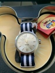 Ingersoll Disney Watch Silver dial with Blue and White Strap $49.99