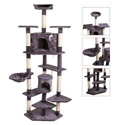 80 in Cat Tree Tower Activity Center Large Playing House Condo For Rest $75.90